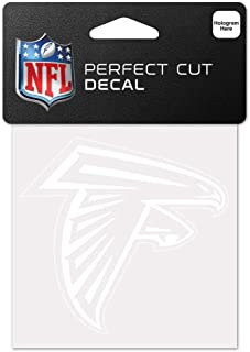 WinCraft NFL Atlanta Falcons 4x4 Perfect Cut White Decal, One Size, Team Color