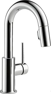 Delta Faucet Trinsic Single-Handle Bar-Prep Kitchen Sink Faucet with Pull Down Sprayer and Magnetic Docking Spray Head, Chrome 9959-DST