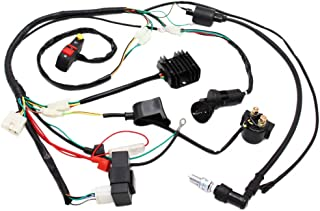 Complete Electrics Wiring Harness D8EA Spark Plug CDI Ignition Coil Kits For Chinese Dirt Bike 150cc 200cc 250cc Zongshen Loncin