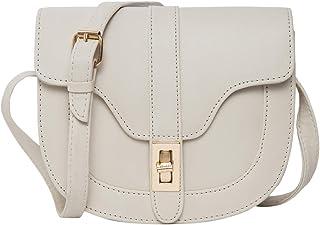 ADISA Women's Half Round Sling Bag (SL5065-CRE_Off White)