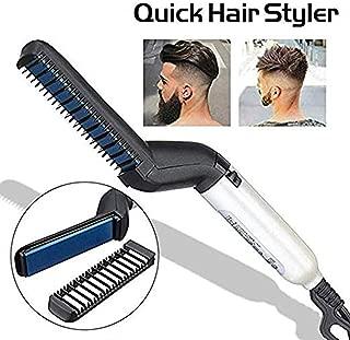 Quick Hair Man, Beard Hair Straightener, Beard Straight Hair, Curly Iron Side straightening Salon Hair Comb, Curling Iron