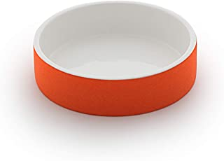 Magisso Dog cat Bowl Cooling Ceramic Technology | Naturally Cooling Design | Keeps Water Chilled and hygienic for Hours | Small 7 fl.oz, ø 5 in | Orange