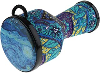 Homyl 8inch Djembe African Hand Drum Standard for Adults Musical Lovers, Blue