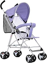 ZJJ Sillas de Paseo Sencillo Cochecito de bebé Ultra Ligero Carrito Plegable portátil Cochecitos Amortiguador Bebé de Cuatro Ruedas Sillones para niños Cochecitos Carritos y sillas de Paseo