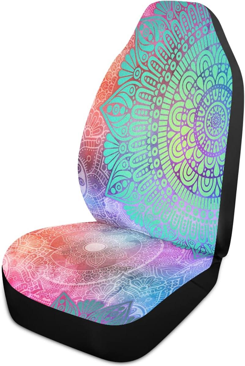 Oarencol Mandala Flower Car Seat Covers Floral Gal Boho Arlington Mall Selling Colorful