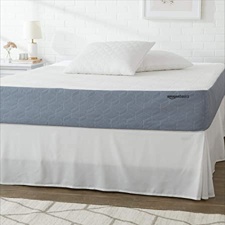 Amazon Basics Cooling Gel-Infused, Medium-Firm, Memory Foam Mattress, CertiPUR-US Certified - 10 Inch, Queen