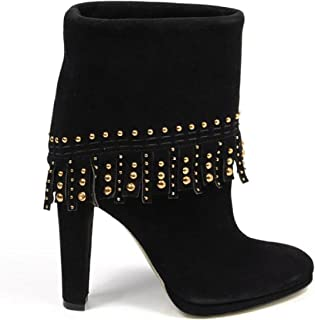 ladies ankle boot S3982 CAMOSCIO ML NERO