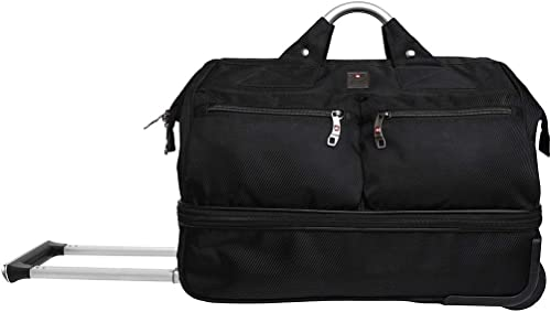 Double Dacker Nylon 45 cms Black Travel Duffle DB1