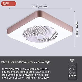 Ventilador de techo LED con luz Control remoto redondo Ventilador Decoración del dormitorio Bajo ruido 220V Velocidad ajustable-D