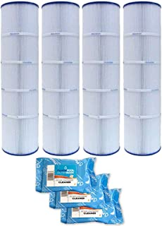 Pleatco Cartridge Filter PJAN115-PAK4 Pack of 4 Jandy CL460 A0558000 w/ 3x Filter Washes
