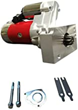 Roadstar MOTOOS 18493 3HP High Torque Mini Starter Fit for Chevy Chevrolet SBC 350 BBC 454 Dual Inline 9 Tooth Red