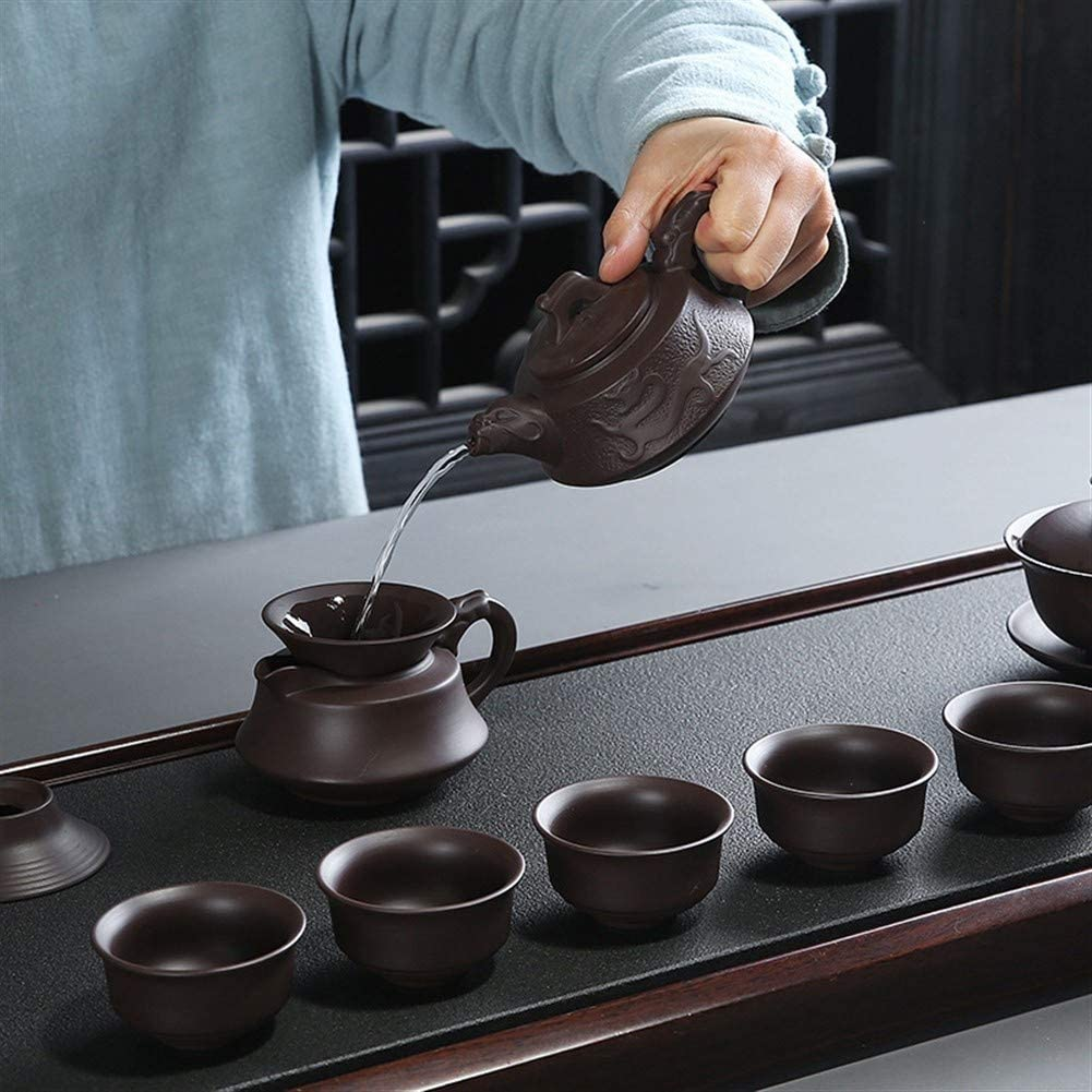 Thee Bereid Theegift Busine Voorss Gift Set (Kleur: Purple Clay Dragon Pot Lid Purple clay dragon pot lid bowl