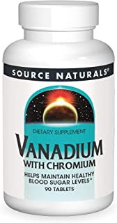 Source Naturals Vanadium with Chromium - Helps Maintain Healthy Blood Sugar Levels - 90 Tablets
