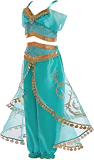 Girls Halloween Costumes Aladdin Magic lamp Princess Jasmine Costumes