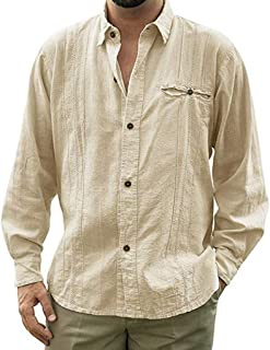 Shirt for Man,Men's Shirts Casual Ethnic Style Slim Long Sleeve Dress Shirt Blouse Tops