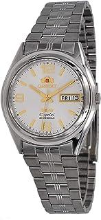 ساعة اورينت FAB04004W للرجال 3 ستار بخاصية عرض التاريخ واليوم بمينا ابيض