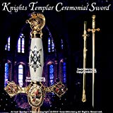 Etrading Knights Templar Freemason Masonic Ceremonial Sword Gold Regalia 31' Blade