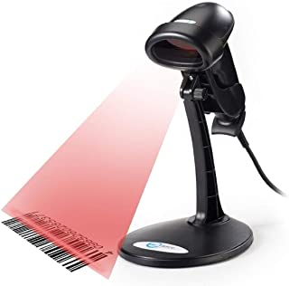 Esky USB Automatic Handheld Barcode Scanner/Reader with Free Adjustable Stand