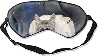 Cat Astronaut With Glasses Cute Sleep Eye Mask, Therapy for Insomnia Puffy Eyes, Super Soft and Light, for Sleeping, Shift Work,Blindfold Eyeshade for Men and Women kid