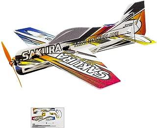 Mini 3D EPP Plane SAKURA Aerobatic Fly Aircraft, 420mm Wingspan F3P RC Airplane Kit to Build, DIY Electric 4CH Radio Controlled Airplane Foam RC Aeroplane for Adults Indoor Parkflyer (KIT, EPP SAKURA)