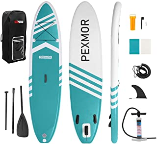 PEXMOR Inflatable Stand Up Paddle Board for Fishing Yoga Paddle Boarding with Premium SUP Accessories & Carry Bag, Surf Co...