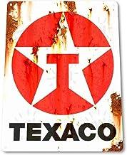 JTY store Cartel de decoración de Arte de Pared Vintage Texaco Rust Oil Gas Station Pump Parts Service Home Bar Pub Club Cafe Man Cave Decor 20CM X 30CM Metal Tin Sign WJ1523