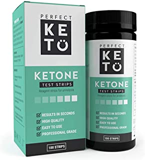 Sponsored Ad - Perfect Keto Test Strips - Best for Testing Ketones in Urine on Low Carb Ketogenic Diet, Ketosis Home Urina...
