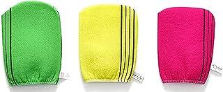 DELFINO Exfoliating Korean Towel Extra Viscos Bath Mesh Body WashCloth Rayon 100% Spa Scrub Italy Gloves Removes Dead Skin...