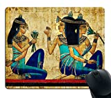 Smooffly Gaming Mouse Pad Custom,Vintage Egyptian Gaming Non-Slip Rubber Large Mousepad Mat