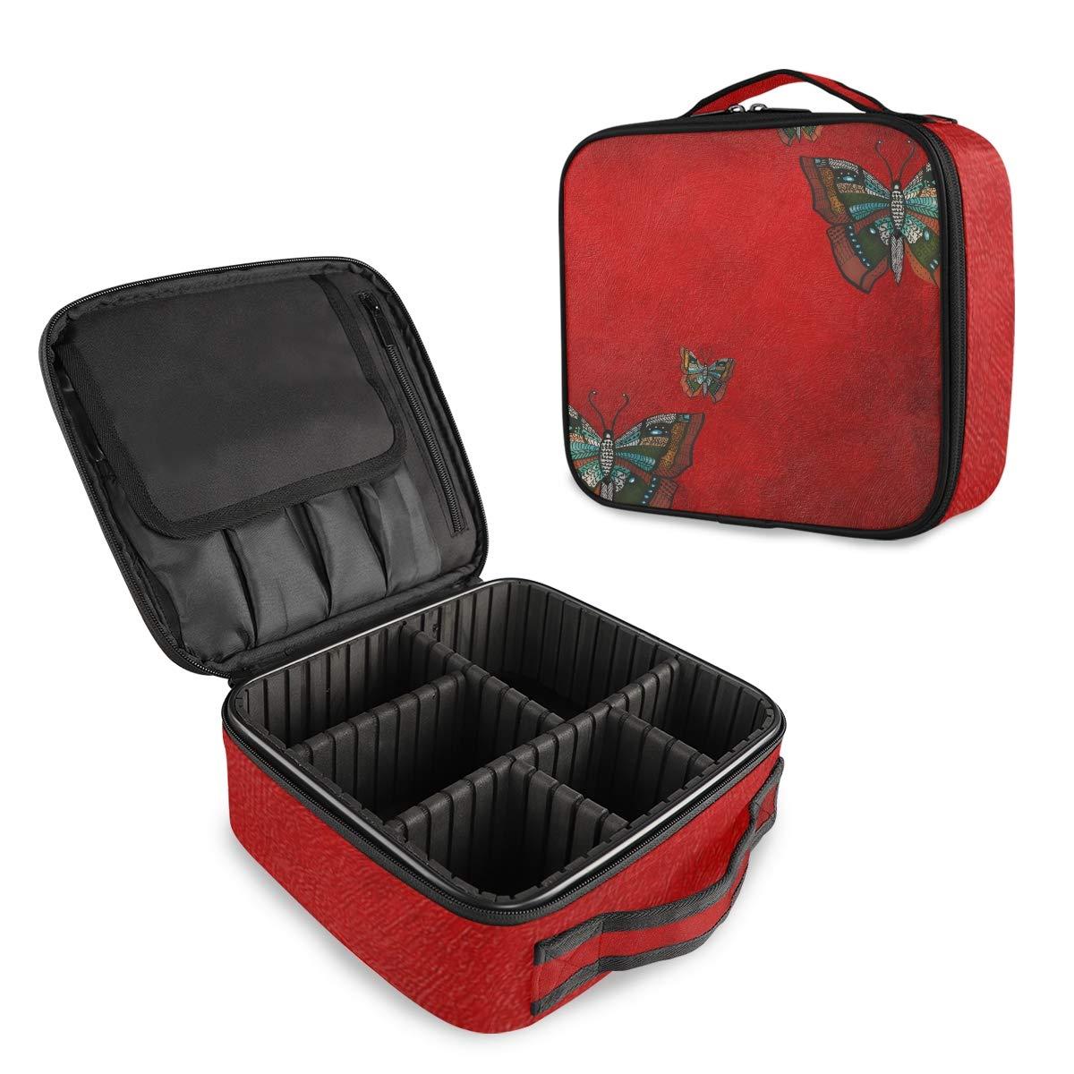 Butterfly Travel Makeup Case Portable Train Organizer Max 76% OFF Ca Washington Mall