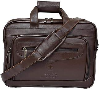 سويس ميليتاري PLB2- حقيبة كتف جلد بني
