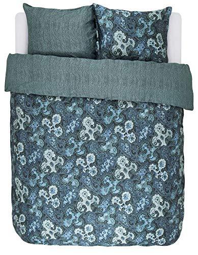Essenza Home katoenen beddengoed Paisa grootte 200x200+2x80x80 kleur Emerald