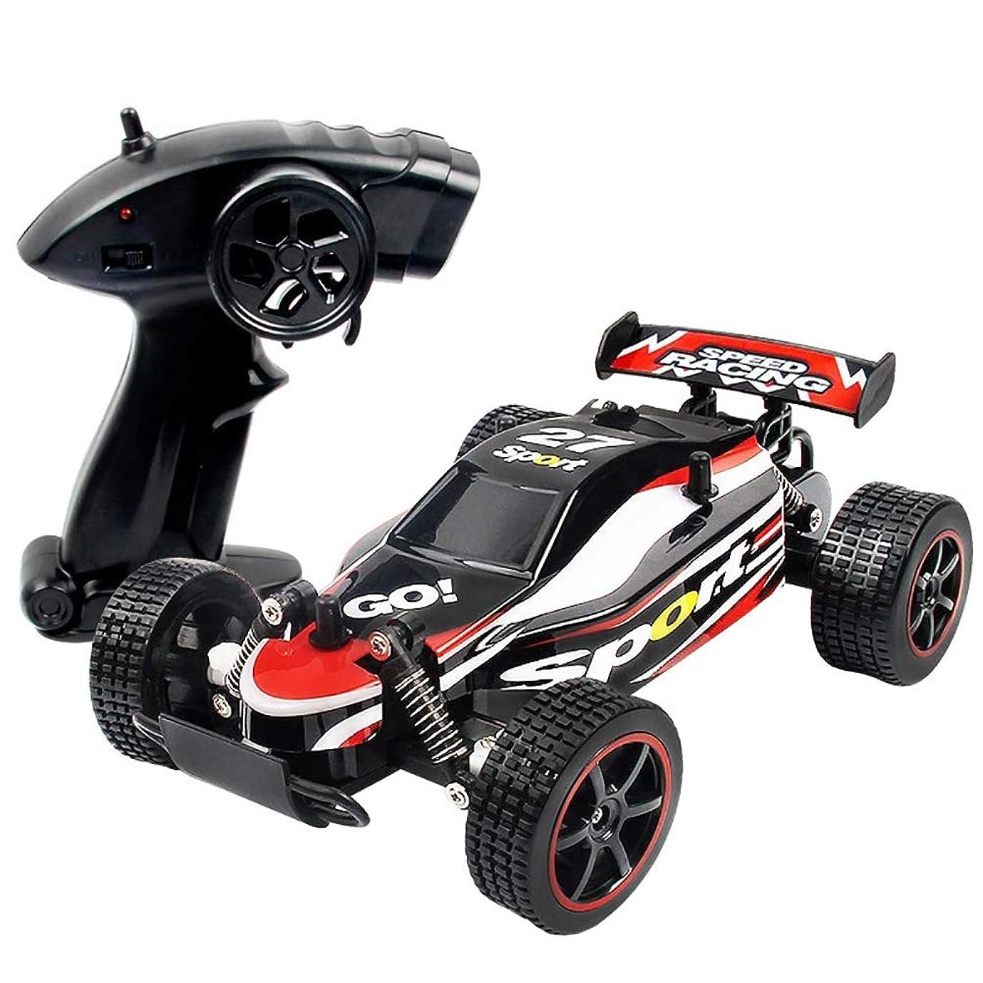 シェア甘美なテンポSurenhap ラジコンカー RCおもちゃ1/20 2.4Ghz 無線電動 オフロード 運動レーシングカー 競技可能 15Km/h高速リモコンカー 二輪駆動 防振性抜群 充電式電池付き ミニRCカー 子どもおもちゃ (レッド)