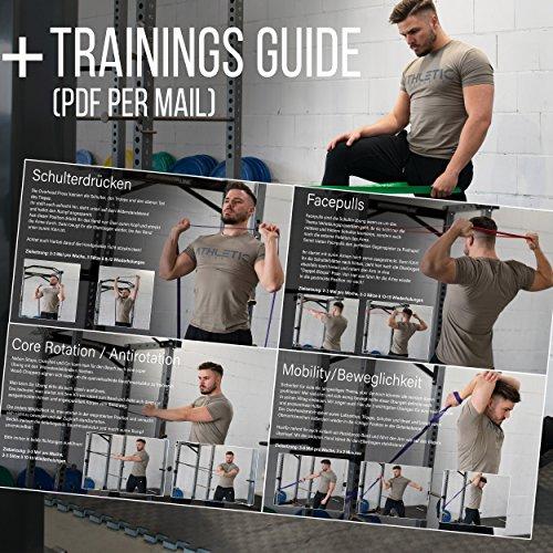 Premium Widerstandsbänder + Tasche und Übungsanleitung – Fitnessbänder - 6