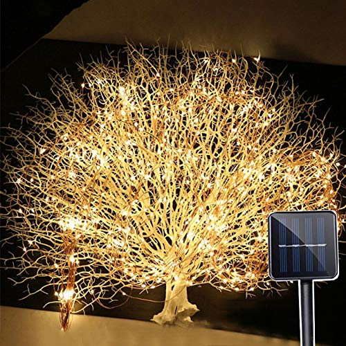 Holiday Lighting Outdoor 2Mx10 200LED Solar Vines Branch LED String Fairy Light Outdoor Garden Fence Tree LED String Fairy Branch Light Lighting Strings (Emitting Color : Warm White)