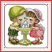 クロスステッチキット 素敵なカップル 初心者 刺繍セット14CT 刺繍糸 刺繍布 DIY 手作り手芸 40x50cm 刺繍 キット ホーム装飾 プレゼント