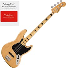 Squier 0374540521 Classic Vibe 70s Jazz Bass, Maple Fingerboard, Natural w/Fend