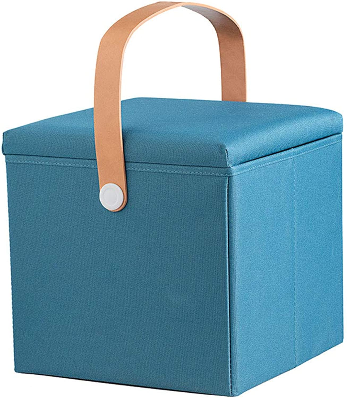 Storage Stool Adult Stool Home Fashion Stool Creative Storage Box Change shoes Storage Stool (color   Green)