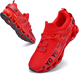 Mens Walking Shoes Athletic Running Blade Tennis Shoes Mesh Breathable Fashion Sneakers