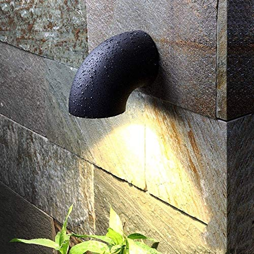 Aaedrag LED Außenbeleuchtung Wandleuchte 7W 3000K Lampe Exterieur Außen Portal-Licht Wasserdichtes IP65 Garten Wandleuchten Treppen Treppen Balkon Schwimmbad Wandbehang Leuchten mit LED-Chip