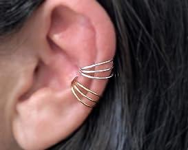 Blue and Clear Ear Cuff \u2022 Non Pierced \u2022 Ear Climber Earrings \u2022 Dainty Ear Cuff \u2022 Trandy Ear Cuff \u2022 Cocktail Ear cuff \u2022 Colorful Ear Cuff