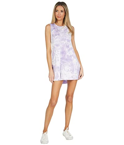 Michael Lauren Gilly Tie-Dye Slub Knit Sleeveless Dress
