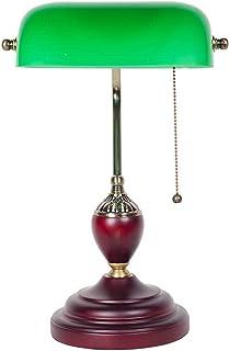 Lampes de Bureau rétro européen en Bois Massif Lampe de Table en Verre Chambre Lampe de Chevet Salon étude Lampe de Table ...