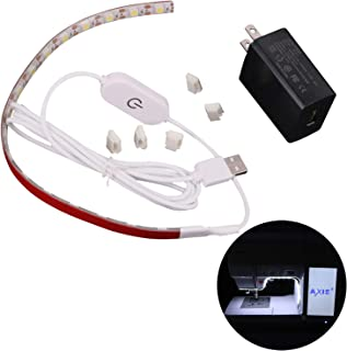 Sewing Machine Led Lights, Sewing Machine Strip Lights, 11.8 Inch Led Strip 59 Inch 18 Lamp Beads USB Cord, Touch Dimmer, Cold White 6000 K Adhesive Tap, Fit Janome Singer Brother Kenmore Riccar