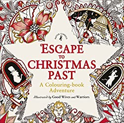 escape to christmas past colouring book adventure