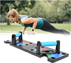 RONTENO Plastic 9 in 1 Gym Work Out Body Building Exercise Push Up Board Stand Strong Bar, 1Pc(Back Color)