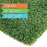 Premium Kunstrasen | Rasenteppich | Rollrasen | Kunststoffrasen | Garten-Rasen | Rasen für Balkon, Terrasse & Garten | viele Modelle | verschiedene Größen & Stärken (Nantes (Höhe: 40mm), 200x700 cm)