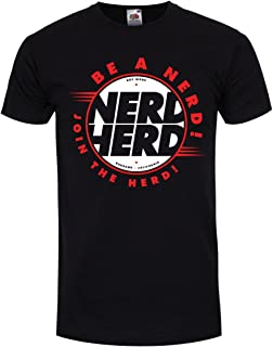 Grindstore Men's Nerd Herd T-Shirt Black