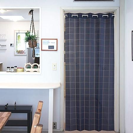 アコーディオンカーテン パタパタカーテン 間仕切りカーテン 100cm幅 200cm丈 Nプレーン ネイビー 11653