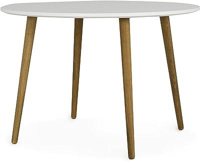 Esstisch rund weiß eiche  Tenzo 2181-001 Bess - Designer Esstisch rund, weiß, Tischplatte MDF ...
